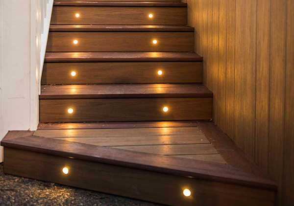 Evening deck lighting for safety in your backyard